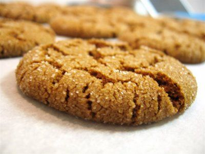 Ginger Molasses Lardsnaps- recipe in comments. Also saved in my recipes to try folder.