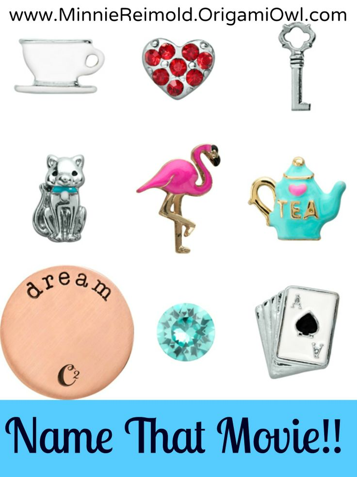 Origami Owl Name That Movie! game. Answer: Alice In Wonderland