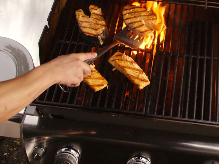 Grilled Salmon: A Step-by-Step Guide : The grill is a versatile tool, capable of cooking more than your standard burgers and hot dogs. For a quick heart-healthy meal, try grilling fresh cuts of tender salmon. Food Network's step-by-step guide covers the major do's and don'ts, from the grocery store all the way to the dinner table. via Food Network