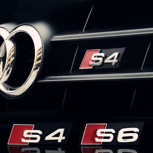 Wholesale 20 Sets Audi Front Grill Badge S3 S4 S5 S6 S7 S8