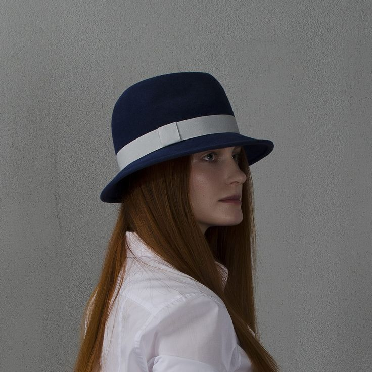Шляпа федора синего цвета / Dark-blue fedora hat fotralehats.com фото photo hats lookbook