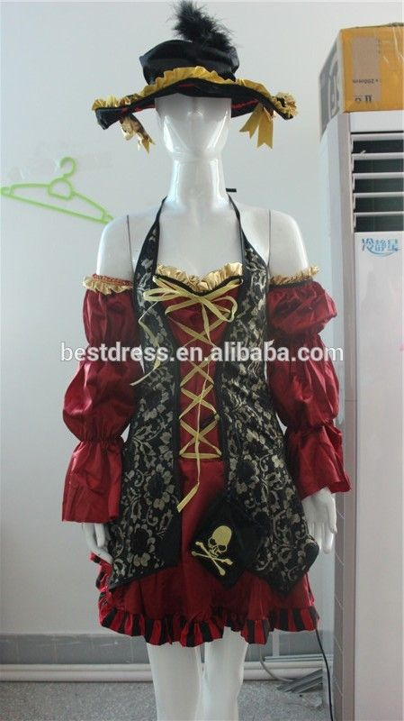 Adult Womens Sexy Pirate Costume Swashbuckler Wench Girl Halloween Fancy Dress Cospaly costumes