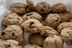 {Famous Amos(tm) Chocolate Chip Cookies} If you're a chocolate chip cookie lover then this recipe is just for you.  Famous Amos chocolate chip cookies are crunchy and packed with rich chocolate chips.  Perfect for dunking in a glass of milk or all by themselves.  Now you can bake these famous cookies fresh at home.  To save time, you can make a large batch of the dough and freeze it for baking at a later time. – The Restaurant Recipe Blog
