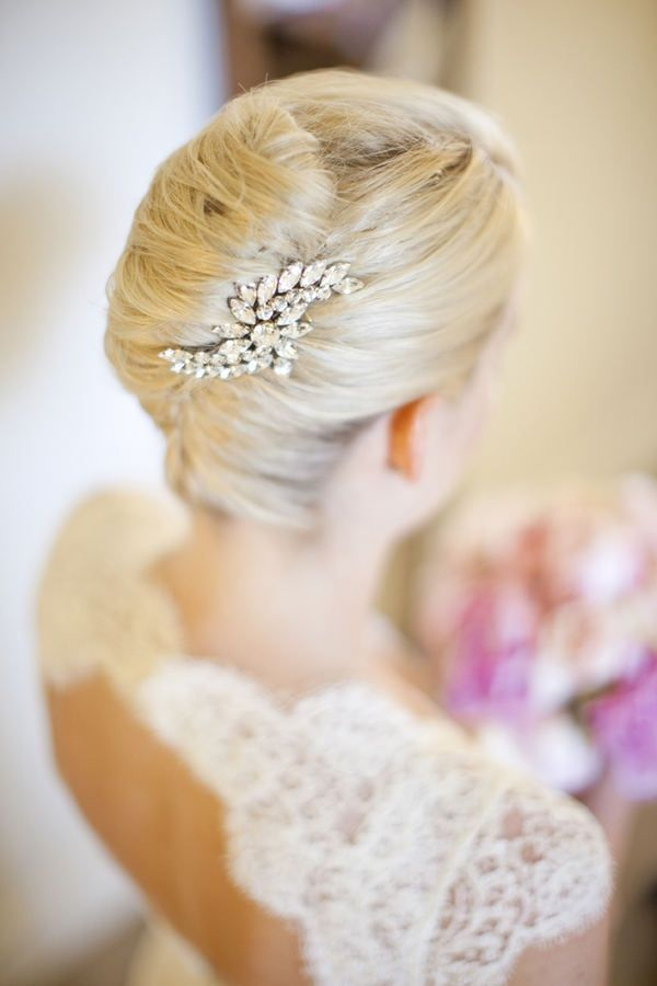 French Twist Held Together With A Diamond Brooch This Is