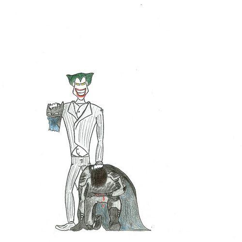 Sometimes life seems like a cruel joke. by sergioski1982, via Flickr #Batman #Joker #Illustration
