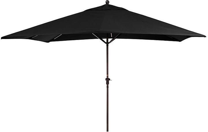 California Umbrella Rectangular Patio Umbrella - Black