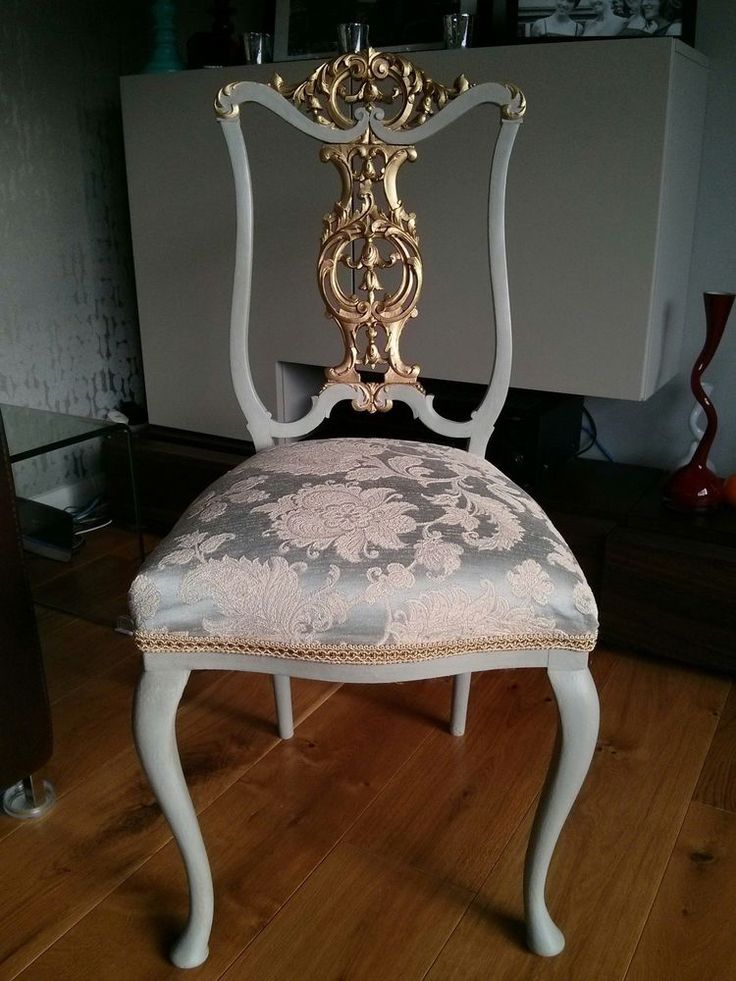 Louis French Style Chair with golden gilt