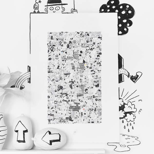 Betaalbare kunst ikea #interieur #woonideeen #muur #IKEA