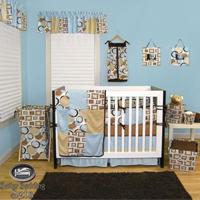 Baby Boy Newborn Blue Modern Contemporary Dot Crib Nursery Infant Bedding Set   eBay