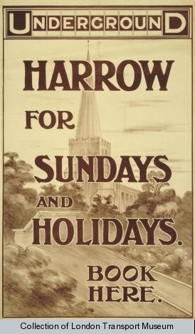 Underground : Harrow for Sundays and Holidays : Book Here