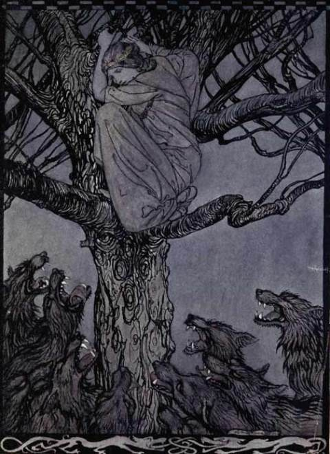 One of Arthur Rackham's illustrations for Irish Fairy Tales, 1920