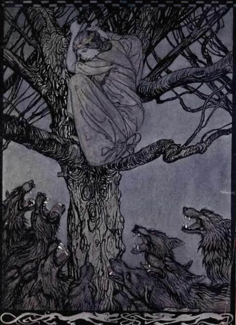 One of Arthur Rackham's illustrations for Irish Fairy Tales, 1920