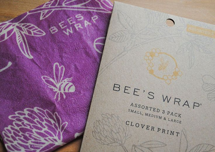 Bee's Wrap Assorted Set of 3 (S, M, L) - Clover Print