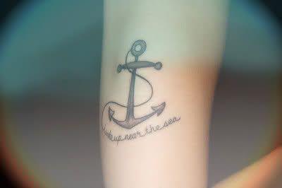anchor tattoo.