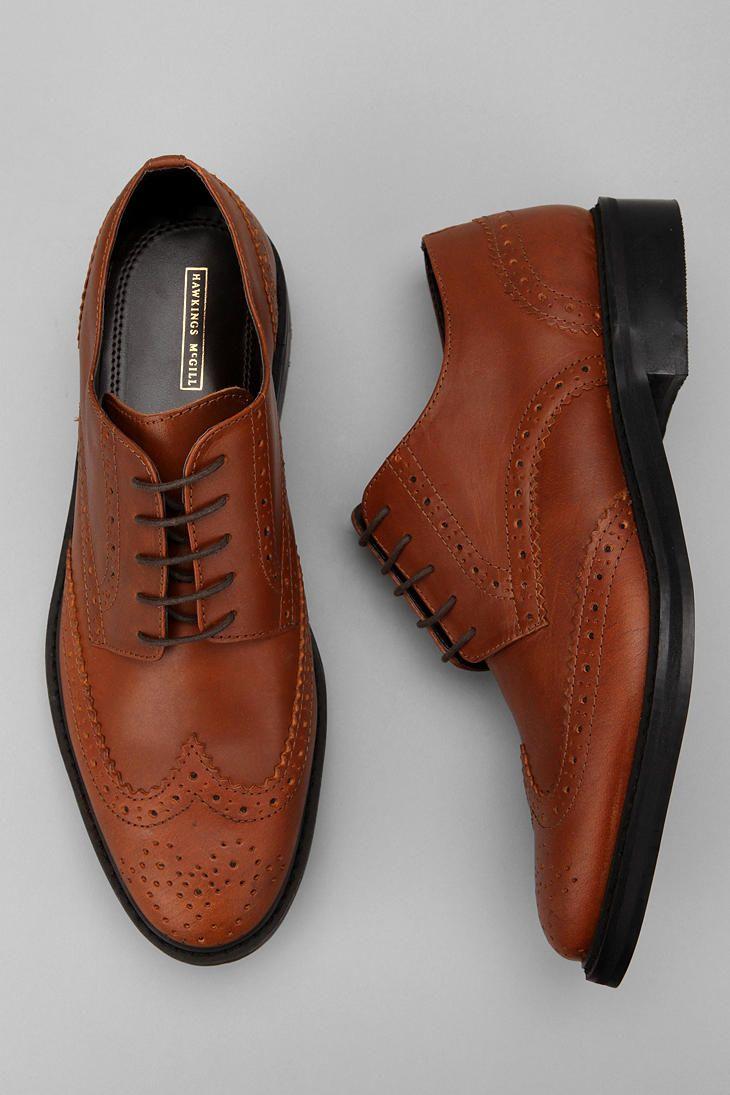 Hawkings McGill Leather Brogue Shoe  #UrbanOutfitters