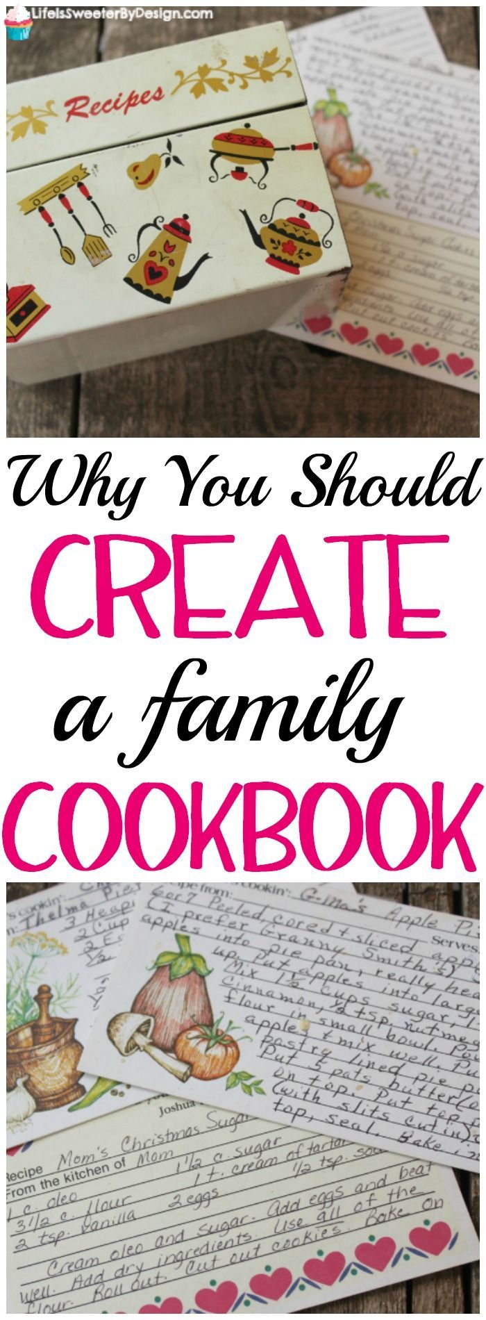 Creating a family cookbook doesn't have to be hard and it is something your children will cherish for years to come. Make your family cookbook today! #ad #CreateMyCookbook @cre8mycookbook
