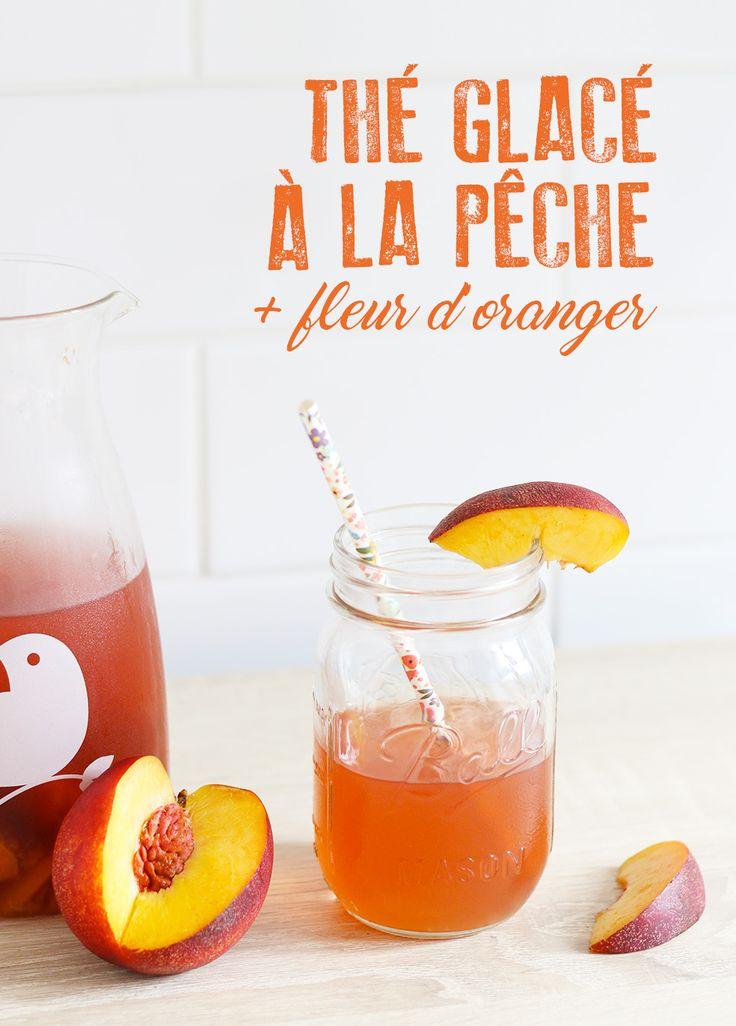 Thé glacé pêche et fleur d'oranger - Mango & Salt