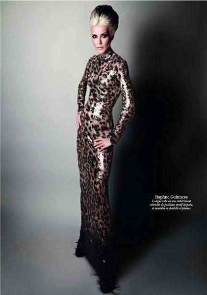 Дафна Гиннесс в фотосессии декабрьском Vogue Paris 2010 года