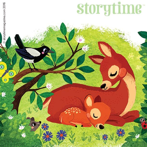 Beautiful Bambi in Storytime Issue 18! Illustrated by Miriam Bos (http://miriambos.com). ~ STORYTIMEMAGAZINE.COM