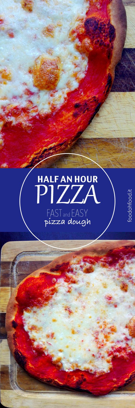 Half an hour pizza - super fast and easy pizza dough