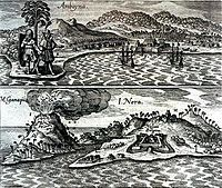 The Dutch and English enclaves at Amboyna (top) and Banda (bottom). 1655 engraving. This Day in History: Mar 20, 1602: Dutch East India Company founded http://dingeengoete.blogspot.com/ http://upload.wikimedia.org/wikipedia/commons/thumb/3/34/AmboynaFort1655.jpg/200px-AmboynaFort1655.jpg