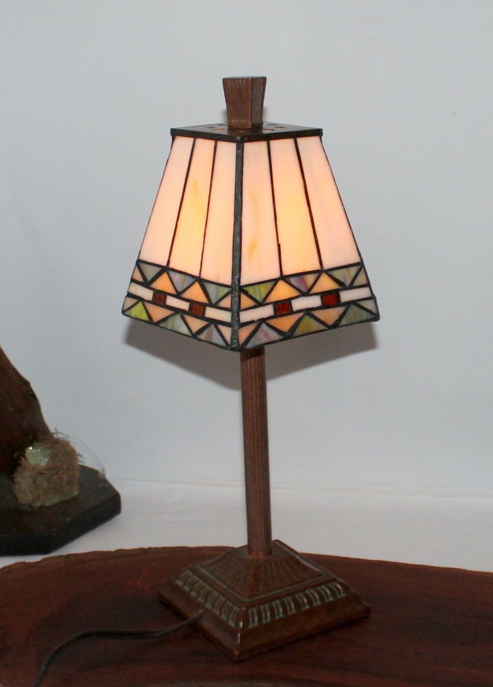 Stained Glass Southwestern Desk Lamp, stained glass bbc869 #Unbranded #StainedGlass