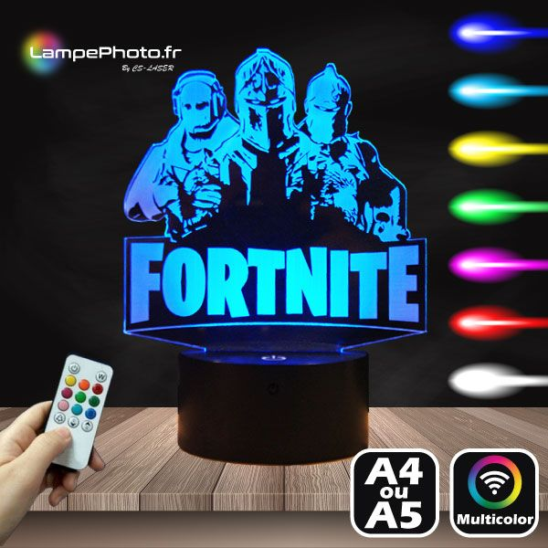 11 9 Lampe 3d Fortine Sur Socle Led Au Choix Avec Telecommande Fortnite Led Multicolor