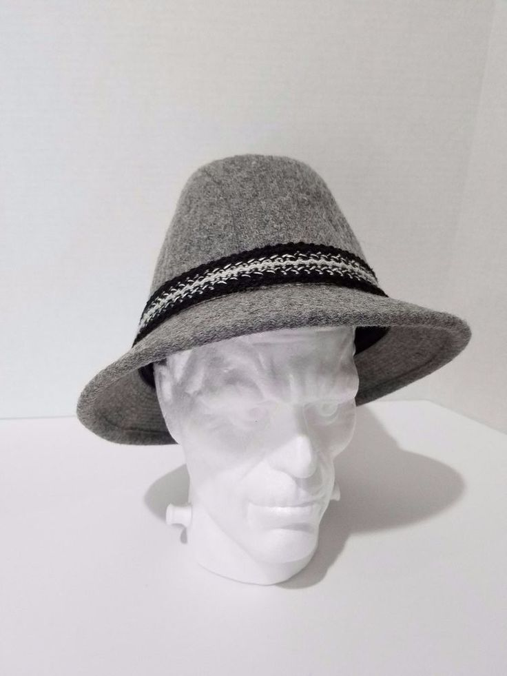 Vintage Resistol Hat Gray Braided Band Wool Self Conforming Men's Size 7 1/4 #Resistol #FedoraTrilby #Everyday