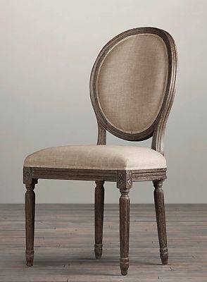 Seraphim Home: Restoration Hardware French Round Side Chair Knockoff