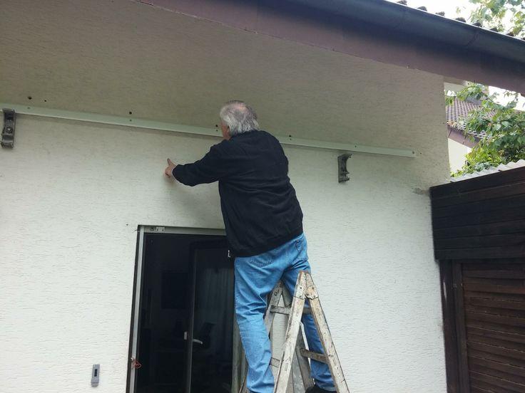Montage Wandanschlussprofil - Terrassenüberdachung