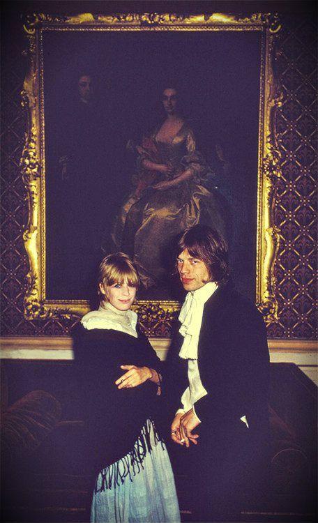 Marianne Faithfull & Mick Jagger 1968
