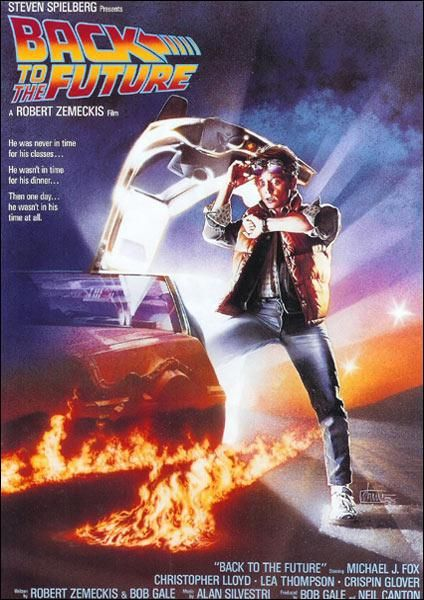 """Back to the Future"" (1985). COUNTRY: United States. DIRECTOR: Robert Zemeckis. CAST: Michael J. Fox, Christopher Lloyd, Lea Thompson, Crispin Glover, Claudia Wells, Thomas F. Wilson, James Tolkan, Billy Zane, Sachi Parker"