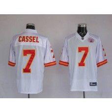 Chiefs #7 Matt Cassel White Stitched NFL Jersey