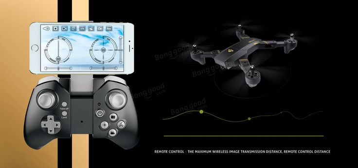 VISUO XS809HW WIFI FPV With Wide Angle HD Camera High Hold Mode Foldable Arm RC Quadcopter RTF