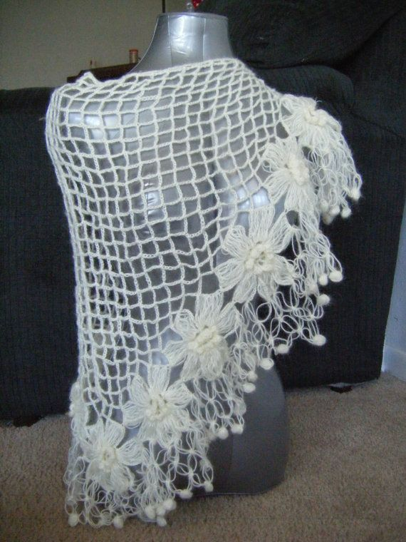 Free Knitting Pattern For Mohair Shawl : 87 best images about Mohair/Angora crochet on Pinterest Free pattern, Daisy...