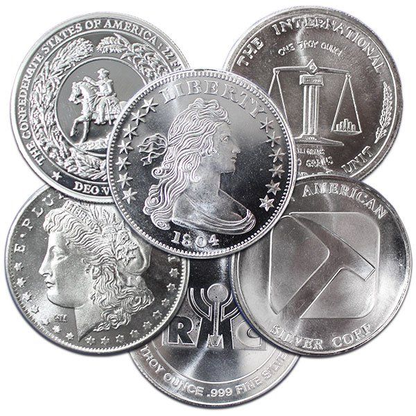 Lower Premium On 1 Oz Silver Rounds Random Money Metals Silver Rounds Silver Bullion Coins Silver Coins