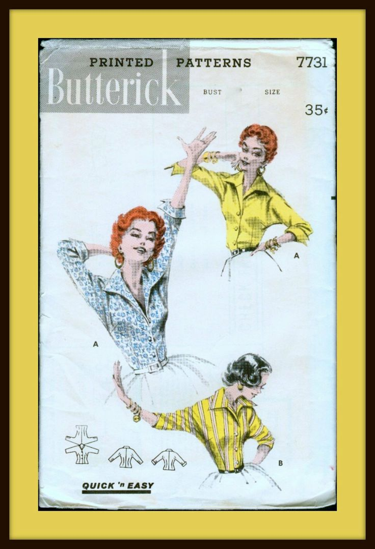 1950s Vintage Sewing Pattern  Butterick 7731  ITALIAN by anne8865, $16.00