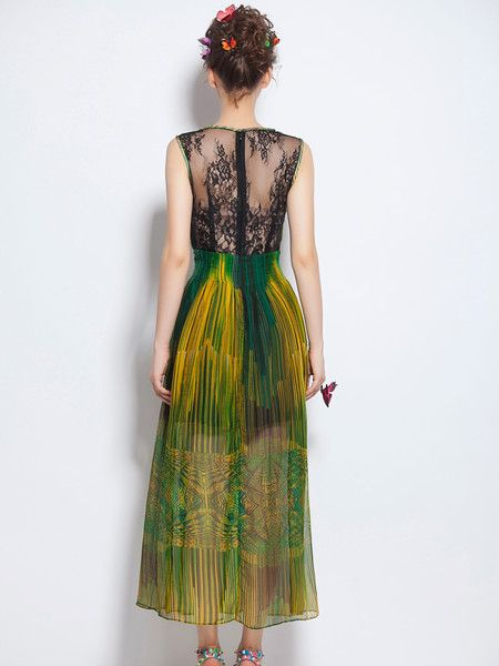 Printed/Dyed Silk Maxi Dress #fashion #women's #outfits #summer
