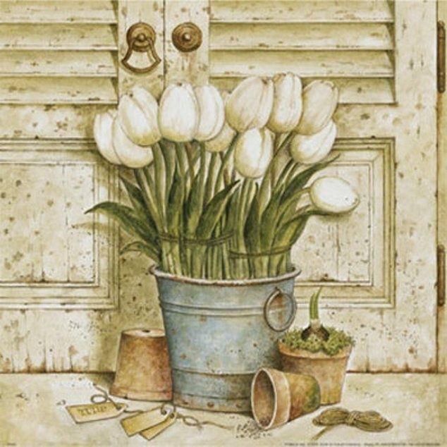 Potted Tulips II (Herve Libaud)