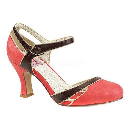 1950s Shoe Styles: Heels, Flats, Sandals, Saddles Shoes Flapper 27 Quarter-Strap dOrsay Pump $59.95 AT vintagedancer.com