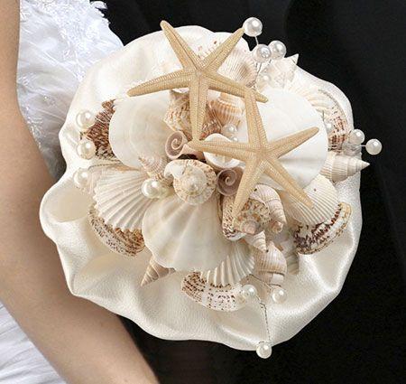 Coastal Sea Shell Wedding Bouquet