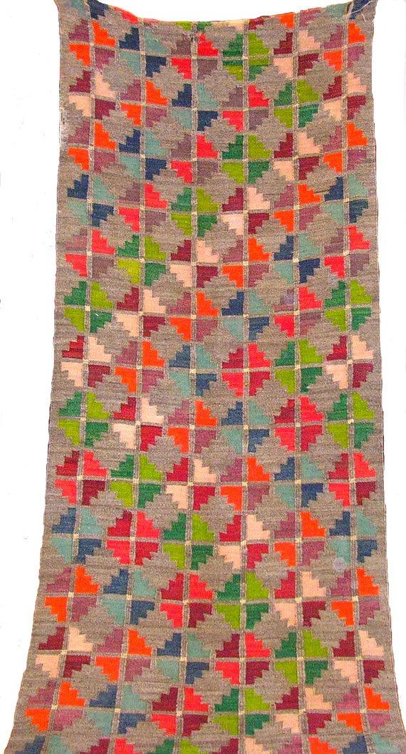 Neon kelim, inspiration for knit or crochet blanket
