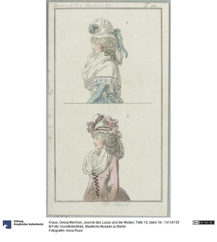 SMB-digital   Journal des Luxus und der Moden, Tafel 10, April 1793.