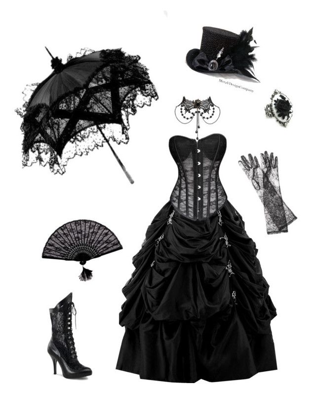"""Gothic Victorian"" by cora-mccutcheon ❤ liked on Polyvore featuring Please, Dolce&Gabbana, black, corset, gothic and victorian"