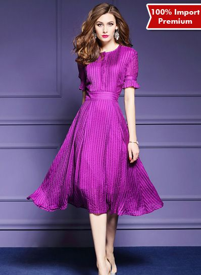 Dress Import Sutra Premium 604PR  | shopasista.com | Distributor baju import | distributor baju korea | grosir baju korea | grosir baju import | supplier baju korea tangan pertama | importir baju korea