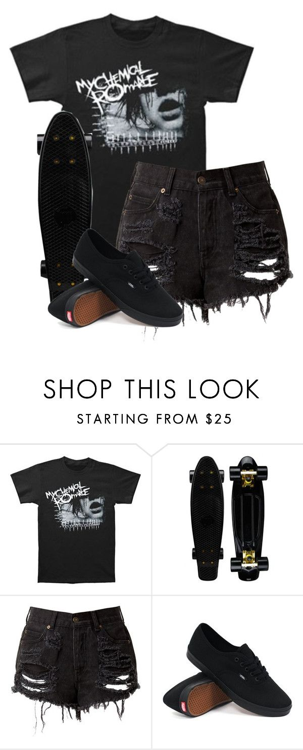 """the sharpest lives//my chemical romance"" by bands-are-my-savior ❤ liked on Polyvore featuring Vans, women's clothing, women's fashion, women, female, woman, misses and juniors"