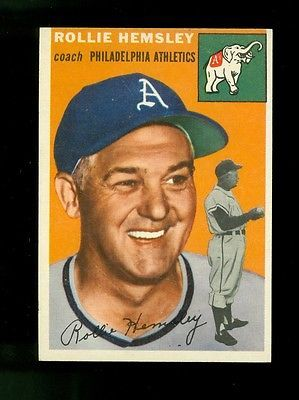1954 Topps Baseball #143 Rollie Hemsley Philadelphia Athletics EX/MT No Creases