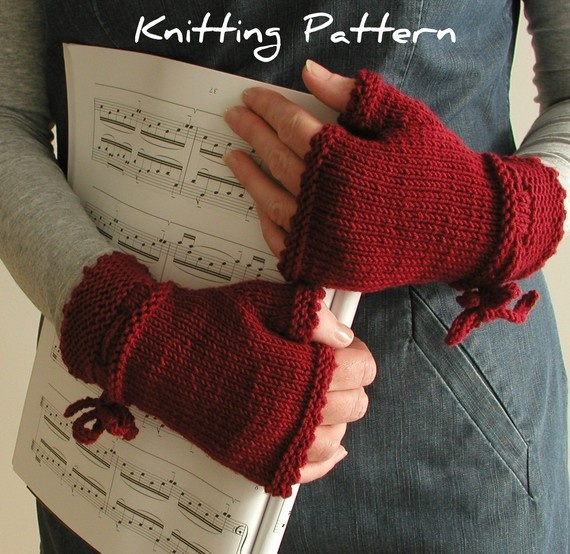 fingerless gloves pdf knitting pattern