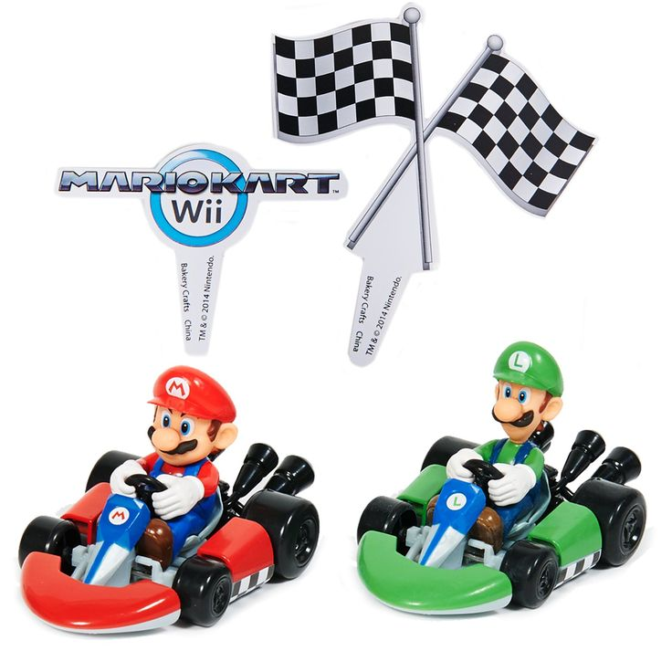 Mario Kart Wii Cake Topper (4 Pieces) from BirthdayExpress.com