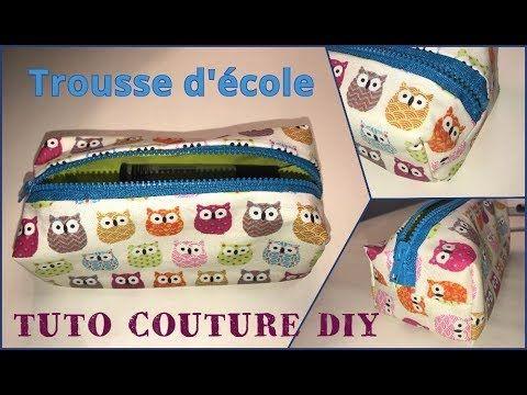 Les 420 meilleures images du tableau tutos couture diy by - Tuto trousse d ecole ...